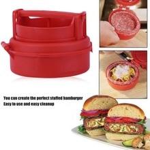 hot deal buy manual hamburger forms press burger patties maker press chef cutlets stuffed hamburger mold grill kitchen tools gadgets dropship