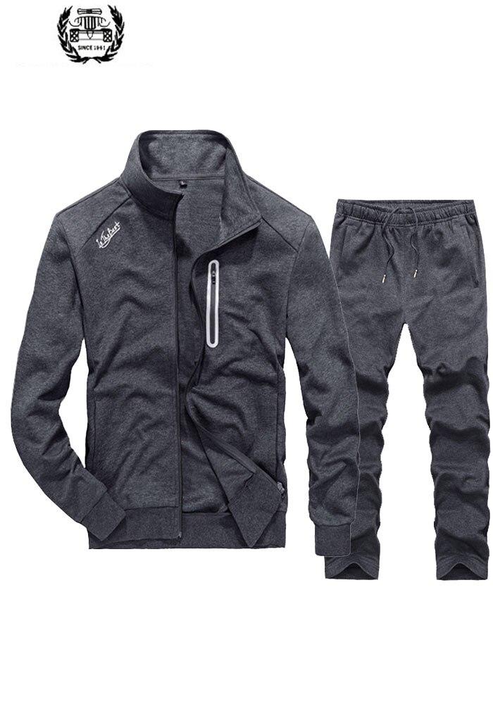 Большие размеры M ~ 3XL, новые мужские комплекты, хлопковые толстовки, пальто, спортивные штаны, повседневный модный кардиган, два костюма, обы