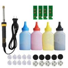 مجموعة أدوات إعادة تعبئة خرطوشة الحبر + 4 شرائح لطابعة سامسونج CLT 404S 404S SL C430W C430 C432 C480W FW C482 C483 FW