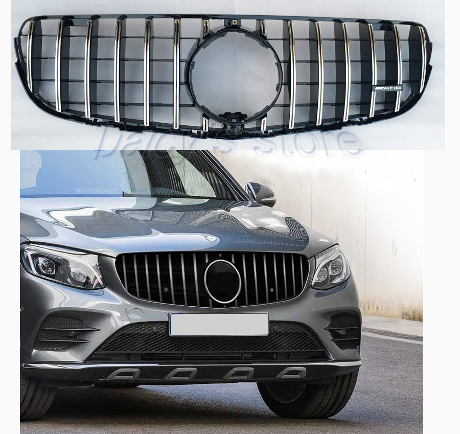 Glc Amg Gtr Front Grille X W Auto Grill Mesh For Mercedes Benz Glc Class Glc on Replacement Mercedes Grille