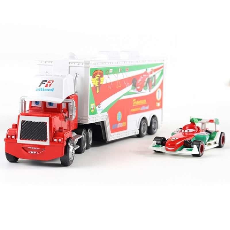 Disney Pixar Cars 3 автомобили 2 Мак дядя и Франческо грузовик игрушечный автомобиль литья под давлением 1:55 Свободные Новое на складе подарки для детей