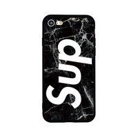 Cool High Quality Soft Silicone TPU Phone Case SUP SMART MARBLE For IPhone 7 8