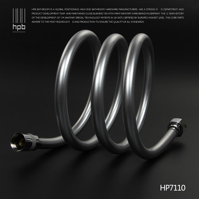 HPB High Quailty 2.0m 1.5m 1m G1/2 PVC Flexible Plumbing Hoses Tube Bathroom Shower Set Accessories Hand Hold Pipe HP7110