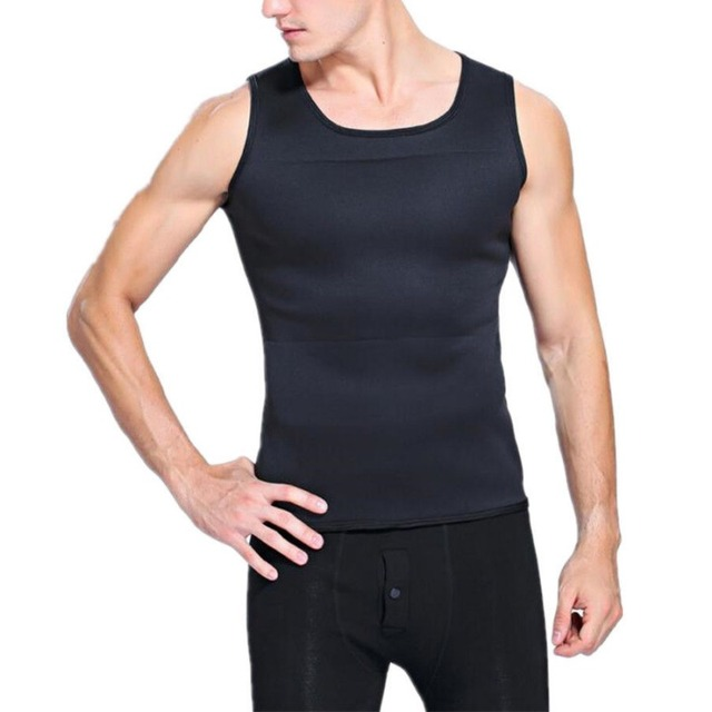 New Men Running Vests Weight Loss Mens Body Shaper Vest Trimmer Tummy Shirt Hot Girdle New Arrival Size M-3XL 4 Color 1