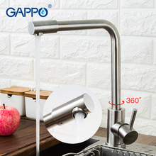 GAPPO 304 stainless steel Kitchen Faucet Single Handle Hole Mixers Sink Tap Modern Hot and Cold Water taps
