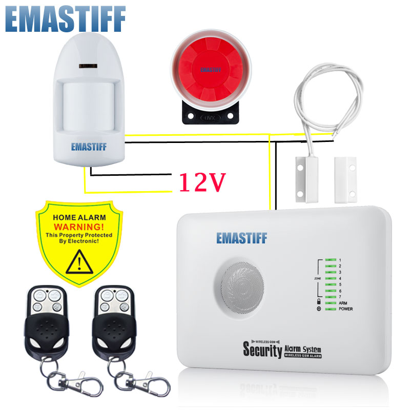 free shipping andriod IOS APP control relay out put wired security home GSM alarm system with