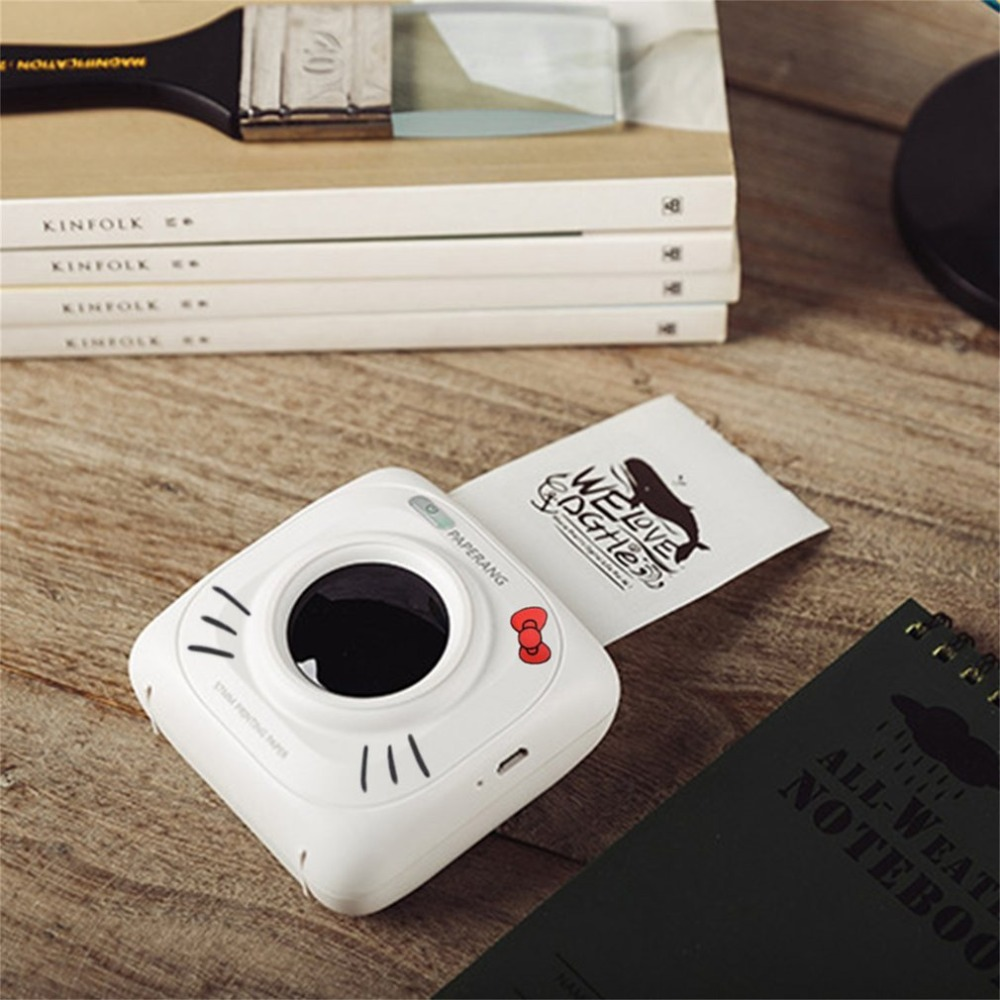 Paperang P1 Small Size Wireless Bluetooth 4.0 Mobile Phone Instant Photo Printer Digital Picture Printing 1000MAH Battery new mini mobile app printing small ticket printer g1 wireless network printing mobile phone photo bill printing thermal printer