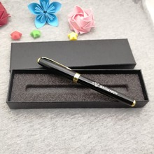 Buy unique logo name pen put your text free on rollerball body or cap shipping with a classic box
