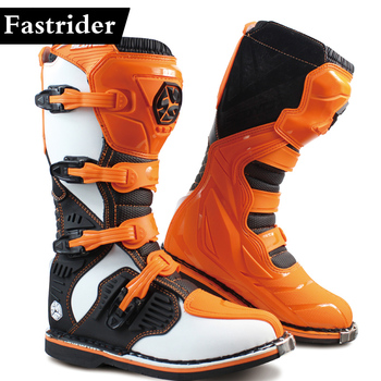 Fastrider new MBM001 Off-road racing boots men motorcycle boots Motocross riding long Motorbike Boots Botas Moto