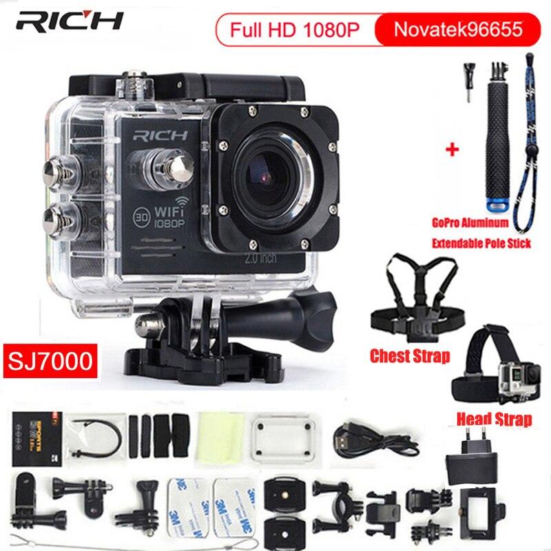 Caméra d'action Full HD 1080 P Wifi Novatek96655 étanche 30 M Minn caméscope Sport caméra + sangle de poitrine + sangle de tête-in Caméra vidéo sport et action from Electronique    1