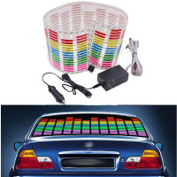 80 19cm Rhythm Music Activated Equalizer Car Decration Sticker Glow Flash Panel Multi Designs LED Car