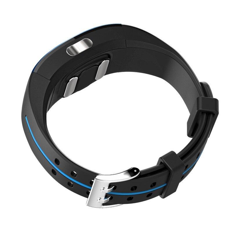 Bracelet intelligent Ip67 Ecg Ppg moniteur de fréquence cardiaque de pression artérielle traqueur de forme physique podomètre sport Bracelet intelligent pour Android Ios - 5