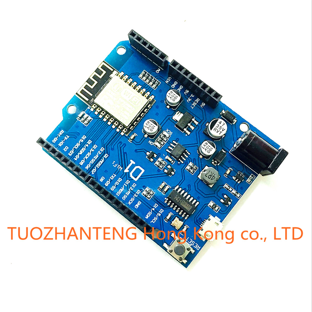 1pcs ESP 12E WeMos D1 WiFi uno based ESP8266 font b shield b font for font