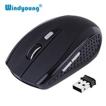 Для ПК беспроводная мышь для ноутбука Оптическая мышь Портативный 2,4 ГГц с USB Nano Dongle офис геймер настольный компьютер мыши Компьютерные