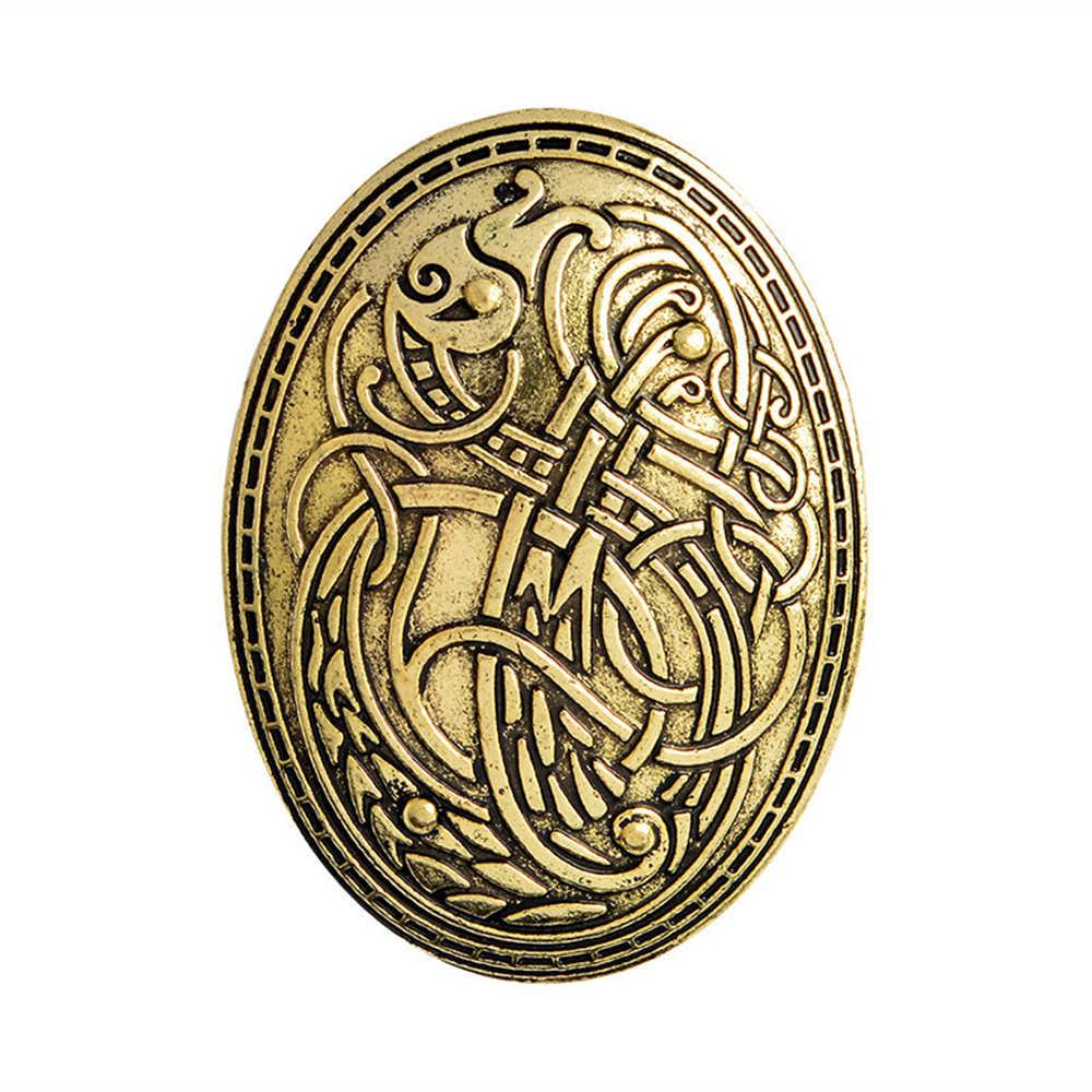 Viking Serigala Jimat Jimat Wicca Bros Femme Bijoux Penyihir Pin Sihir Penyihir Korsase Bros Perhiasan untuk Wanita
