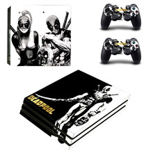 15 Styles Deadpool Anime Design PS4 pro Skin Sticker For Sony Playstation 4 Promotion Console & 2Pcs Controller Protection Film