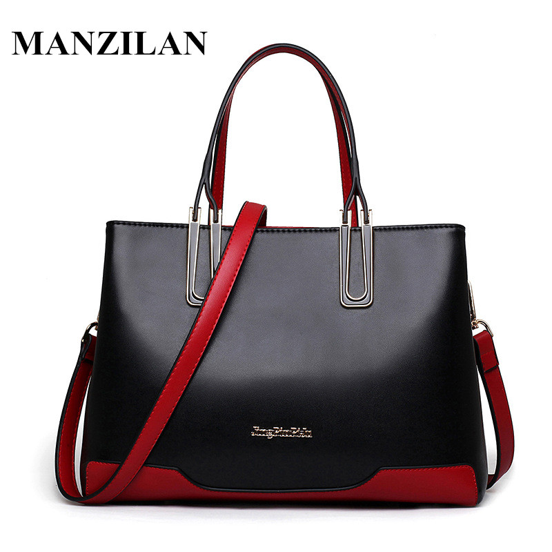 2017 New Fashion Famous Brand Women Leather Handbags Casual Tote Bags Spring&Autumn Women Shoulder Bag Vintage Zipper Bag bolsas  2016 new fashion women s shoulder bags and handbags famous brand women leather bag bolsas female crossbody bag tote