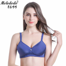 Summer thin section Silicone Breast Bra 90ABC Mastectomy Blue color with Pockets for Prosthesis D40