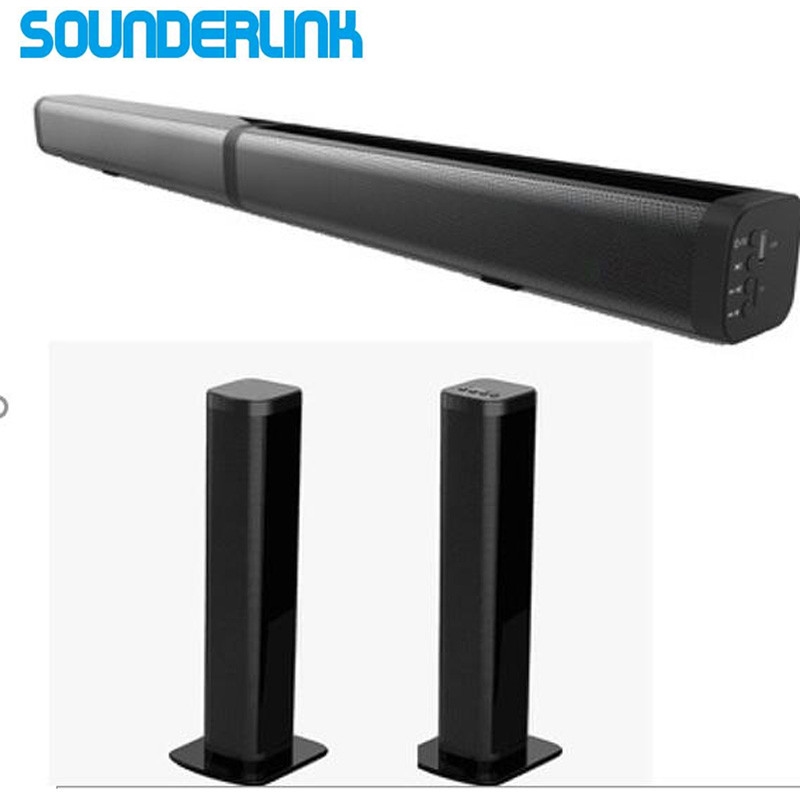 Sounderlink destacável Bluetooth wireles TV Soundbar speaker HiFi torre barra de Som de home theater de Áudio óptico para TV LED