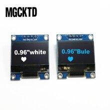"""10 sztuk 4pin 0.96 cal moduł OLED nowy 128X64 OLED wyświetlacz LCD LED moduł dla Arduino 0.96 """"IIC I2C komunikować się"""