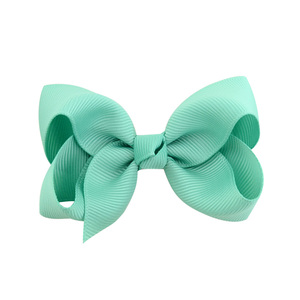 Image 4 - 3 inch 40 Bulk Small Toddler Ribbon Bows Alligator Hair Clips Solid Children Hair Bows For Pigtails Little Girl Hair Accessories