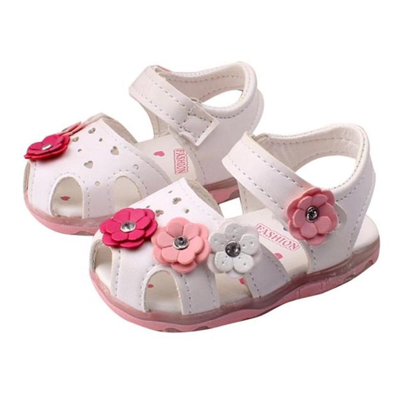 DORIC Toddler Infant Kids Baby Girls Elegant Bowknot Flower Princess Shoes Sandals Newborn
