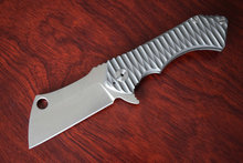 60HRC GB-D2 Steel Blade Folding Knife TC4 Titanium Handles Ceramics Balls Satin Blade RAD Survival Knives EDC Tools Dropshipping