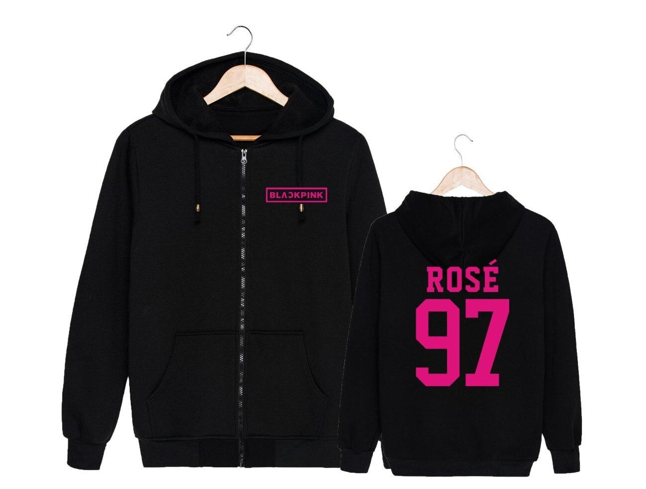 BLACKPINK JENNIE hoodies moletom feminino sweat kpop vêtements hpeiypei
