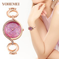 brands Rhinestone Bracelet Watch Women Watches Rose Gold Quartz Watch Clock Lady Hour montre femme relogio feminino reloj mujer