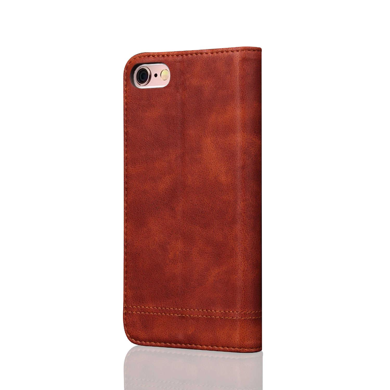 Чехол для мобильного телефона Apple iPhone 6 Plus 5,5 дюймов PU кожаный чехол Ретро Crazy Horse флип чехол мобильный телефон сумка для iPhone 6 S Plus