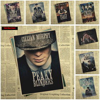 That man Store Peaky blinder Movie Kraft Paper Poster Bar Cafe Vintage High quality Printing Drawing core Decorative Painting