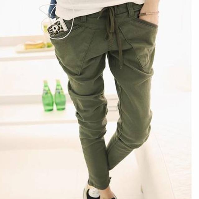 1458c15f09db5 BONJEAN Femmes Armée de Pantalon Cargo Camouflage Caogo Pantalon Militaire  Vert Couleur Crayon Pantalon Camouflage Skinny
