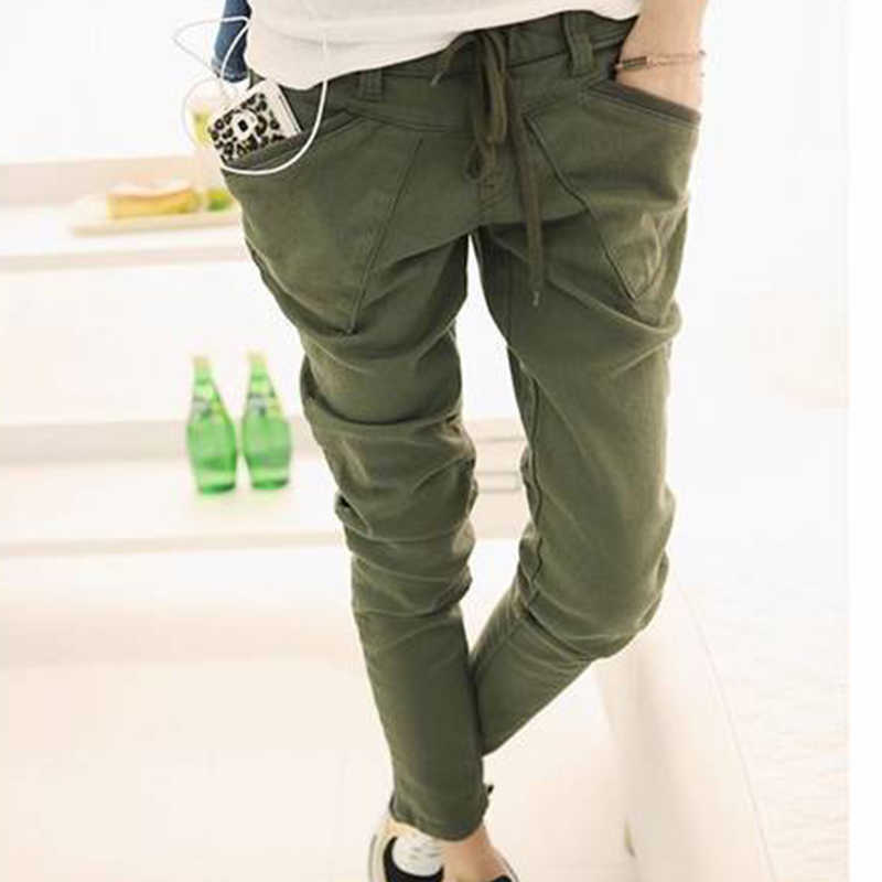 b101b4b574b2 BONJEAN Women s Army Cargo Pants Camouflage Caogo Pant Military Green Color Pencil  Pants Camouflage Skinny Jeans