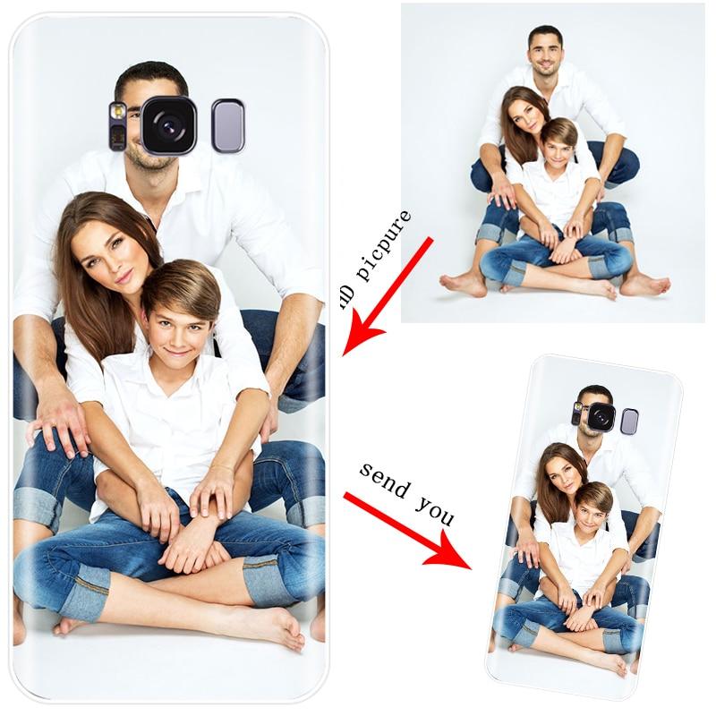 Soft Silicone TPU Customized Photo Phone Case For Samsung S10 S9 S8 S7 S6 EDGE Plus A10 A30 A40 A50 NOTE8 NOTE 9 Cover