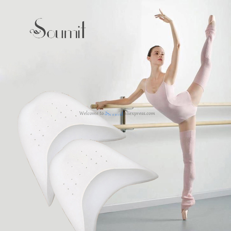 Soumit Elastic Stretch Gel Breathable Ballet Foot Tip Pouch With Air Hole Dancing Shock Absorbing Shoes Insoles Pointe Pads Care