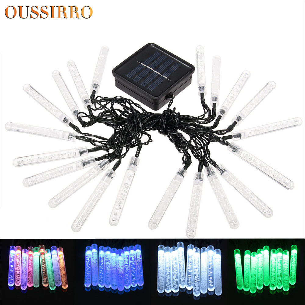 OUSSIRRO Hot holiday decorative lantern bubble column lamp solar ...