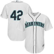 MLB Hommes Seattle Mariners de Jackie Robinson Baseball Blanc Cool Base  Jersey