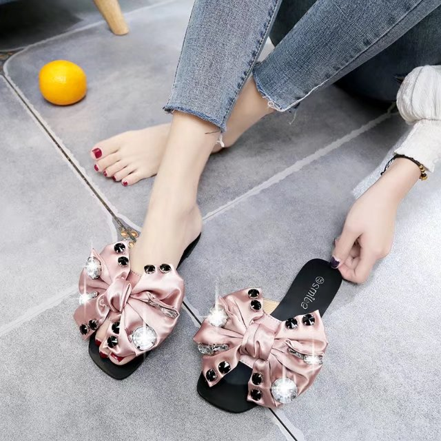 EABXZ Shoes Woman Slippers Sandals Flip-Flops Slides Casual Summer Flats Rivet