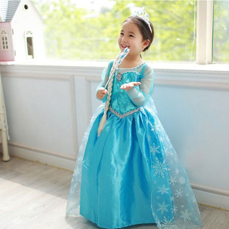 Girl Dresses Princess Children Clothing Anna Elsa Cosplay Costume Kid's Party Dress Baby Girls Clothes