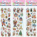 3 шт./лот Рождество Санта-Клаус Мультфильм Наклейки для Мальчиков и Девочек Красивые Декоративные Пены Наклейки разведки # ST018