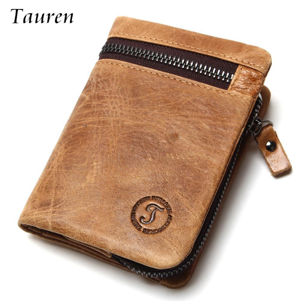 Crazy Horse Leather Men's Retro Wallets Short Design Multi-Function  Man Purse Zipper Coin Pocket Man Wallet  Id Card Holders 2017 new retro man canvas wallets male purse fashion card holders small zipper wallet new designed multi pockets purse for male