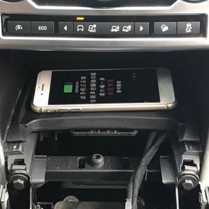 Image 3 - 10W car charger QI wireless per Land Rover Discovery Sport 2015 2016 2017 2018 2019 piastra di ricarica supporto del telefono accessori