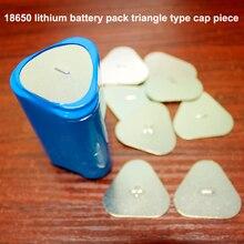 50 adet/grup 18650 lityum pil kapağı pil paketi 3 S üçgen pozitif ve negatif levha karbon çelik kaplama nokta lehim