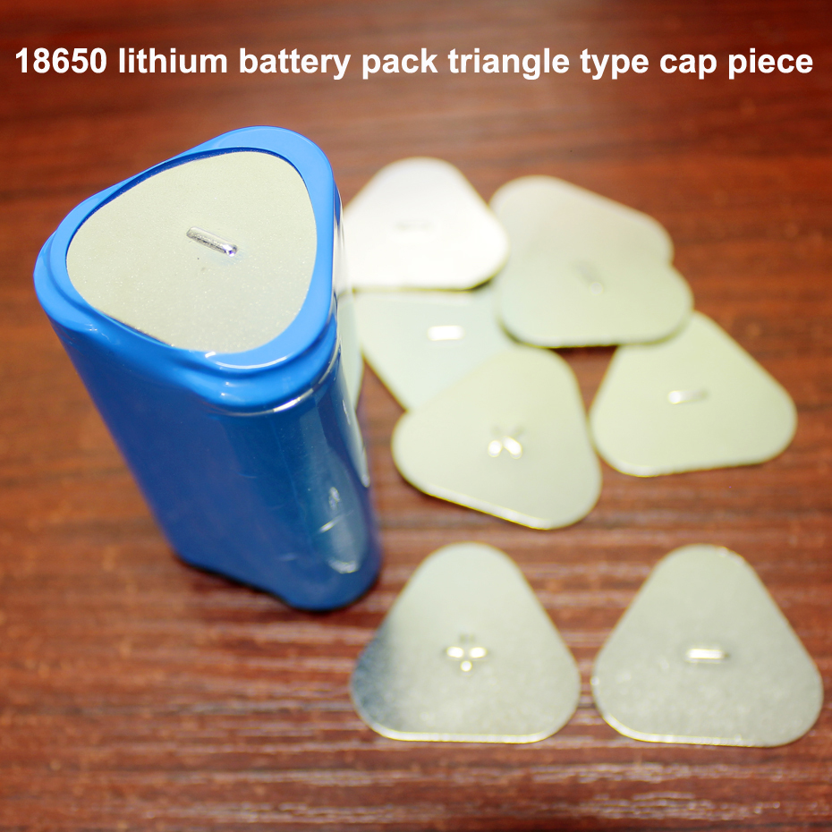 50pcs/lot 18650 lithium battery cap battery pack 3S triangle positive and negative sheet carbon steel plating spot solder-in Replacement Parts & Accessories from Consumer Electronics