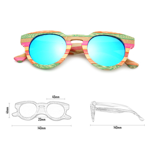 Image 5 - Angcen 100% Bamboo Sunglasses Women Luxury Brand Designer Vintage Ladies Sunglasses Polarized Female Fashion Glasses With Case
