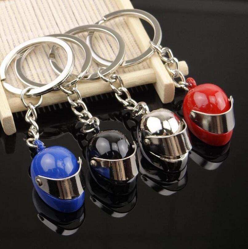 1 PC 85mm High Quality Metal Helmet Key Chain Alloy Creative Motorcycle Helmets Windshield Movable Pendant Key Rings Key Chains