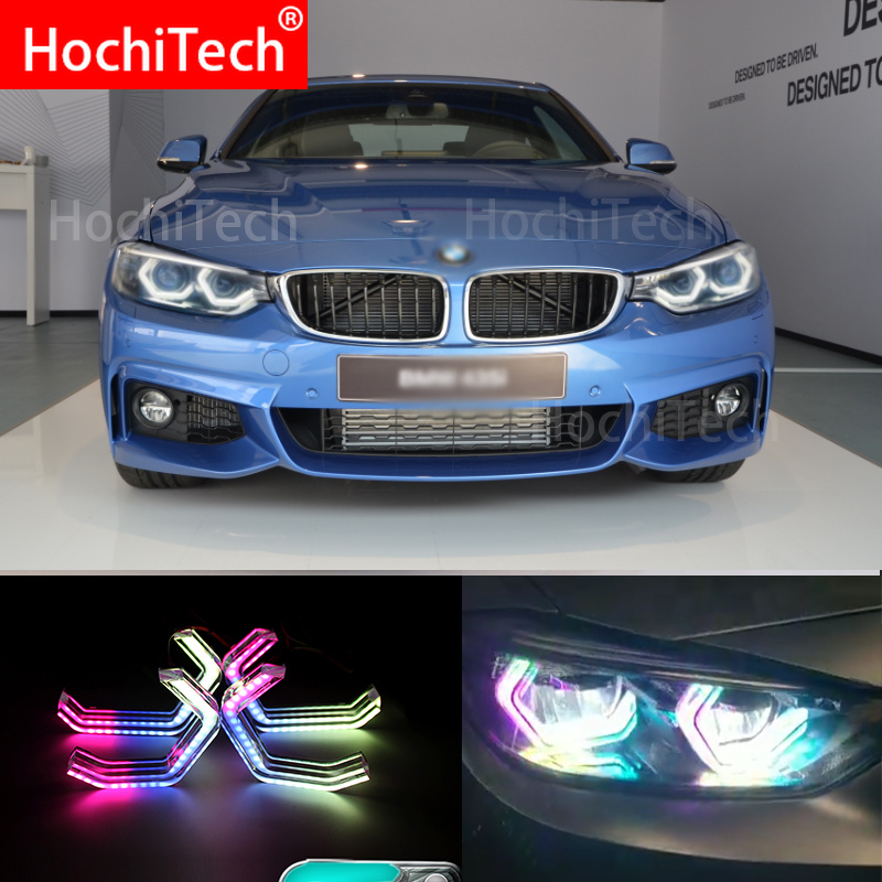 RGBW Multi Color ICONIC M4 Style Crystal Angel Eyes Kit Day Light DRL for BMW M3