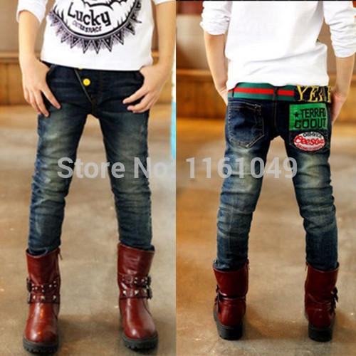 Invierno 2017 primavera verano otoño niños de la manera niños grandes muchachos adolescentes adolescentes casual denim jeans pitillo pantalones de diseño