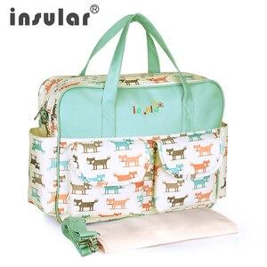 Image 1 - Bolsa de pañales para mamá de gran capacidad, bolsas de pañales de maternidad para mamá multifuncional, bolsa de enfermería para cochecito de bebé