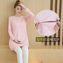 2017 Autumn Lactation maternity clothes maternity dresses pregnancy clothes for Pregnant Women nursing dress Breastfeeding Dress